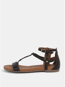 Sandale maro inchis din piele naturala Tamaris