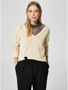 Svetlohnedý sveter Selected Femme Suma