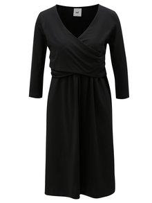 Čierne tehotenské šaty/šaty na dojčenie Mama.licious Marigold