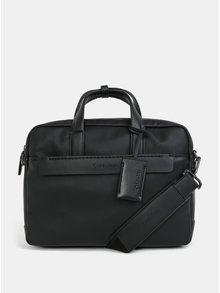 """Černá koženková taška na notebook Calvin Klein Jeans 15"""""""