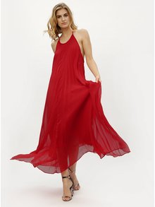 Rochie maxi rosie plisata MISSGUIDED