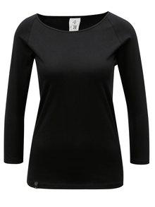 Tricou negru cu maneci 3/4 WOOX Ellen