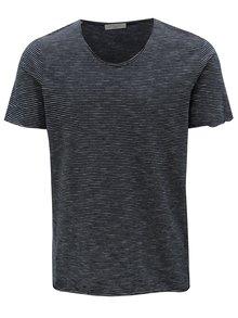 Tmavě modré pruhované tričko Selected Homme New merce