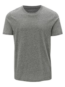 Tricou gri deschis melanj Selected Homme The Perfect