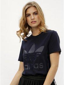 Tricou de dama albastru inchis cu print adidas Originals