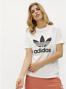 Tricou de dama alb cu print adidas Originals