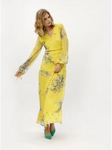 Rochie maxi galbena cu print floral - VERO MODA Satina