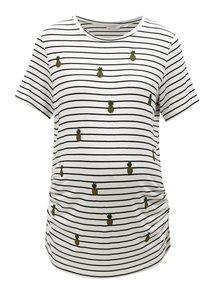 Černo-bílé pruhované těhotenské tričko Dorothy Perkins Maternity
