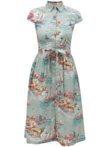 Mentolové vzorované košeľové šaty Cath Kidston