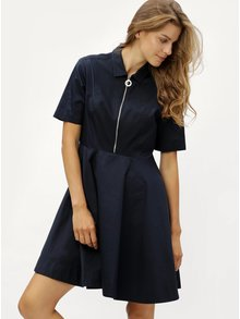 Tmavomodré šaty so zipsom Tommy Hilfiger
