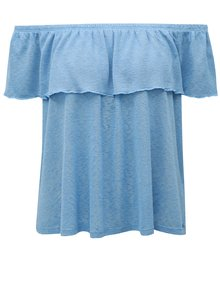 Bluza albastra cu decolteu pe umeri Broadway Fleta