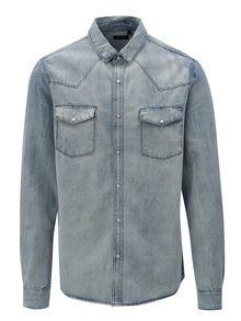 Camasa barbatesca albastru deschis din denim Broadway Dow