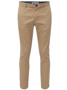 Pantaloni bej slim fit chino Burton Menswear London