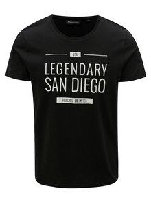 Čierne pánske tričko s potlačou Broadway Ellwood