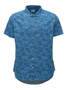 Camasa albastra cu model Burton Menswear London