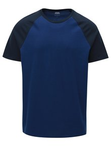 Tricou albastru inchis regular fit Burton Menswear London