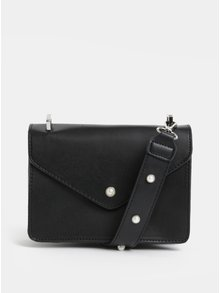 Černá koženková kabelka Pieces Dolla