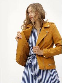 Jacheta mustar din piele sintetica VERO MODA World