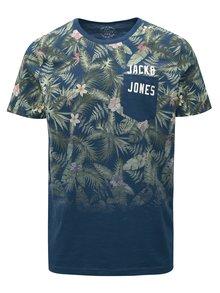 Modré vzorované tričko s vreckom Jack & Jones