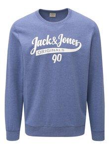 Bluza sport mov melanj cu print Jack & Jones