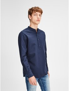 Camasa albastra slim fit Jack & Jones