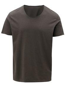 Tmavosivé pánske tričko s okrúhlym vzorom Stanley & Stella