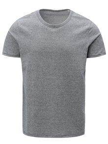 Tmavomodré pánske pruhované tričko Stanley & Stella
