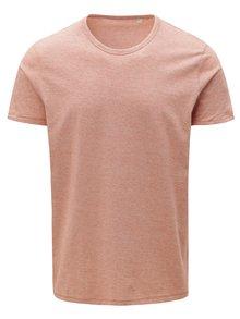Tehlové pánske pruhované tričko Stanley & Stella