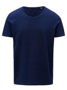 Tmavomodré pánske tričko s krátkym rukávom Stanley & Stella
