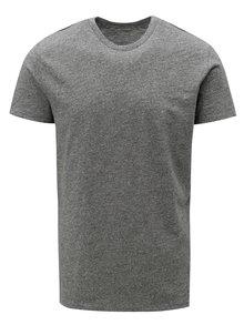 Tmavě šedé pánské žíhané tričko Stanley & Stella