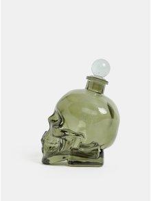Zelená láhev na koňak ve tvaru lebky Temerity Jones