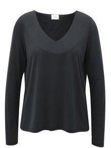 Tmavě šedé tričko s dlouhým rukávem VILA Triny