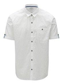 Bílá pánské regular fit košile s krátkým rukávem s.Oliver