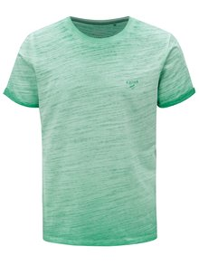Zelené pánske melírované slim fit tričko s.Oliver