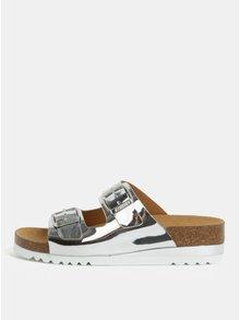 Dámské zdravotní pantofle ve stříbrné barvě Scholl Glam