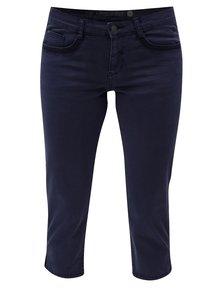 Modré skrátené dámske slim fit nohavice s.Oliver