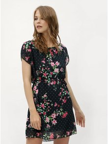 Rochie verde inchis cu model floral Haily´s Anne