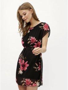 Rochie neagra cu model floral Haily´s Anne