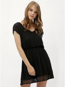 Čierne šaty s gumou v páse Haily´s Anika