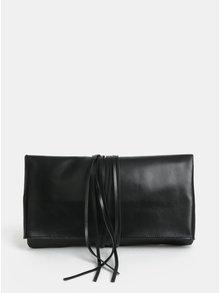 Čierna listová kabelka s dlhými strapcami KOZAK Helena