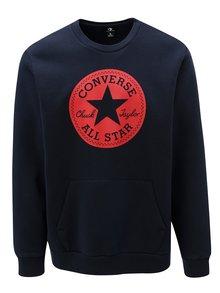 Červeno-modrá pánska mikina Converse Chuck Patch Graphic Crew