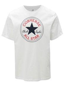 Biele pánske tričko s potlačou Converse Core Chuck