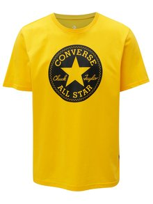 Tricou barbatesc galben cu print Converse Chuck Patch