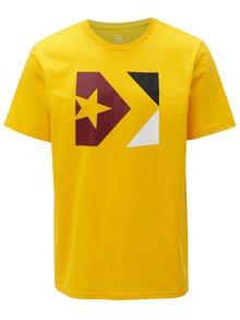 Žlté pánske tričko s potlačou Converse Chevron Tri Color