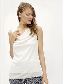 Biela oversize blúzka s pásmi na chrbte