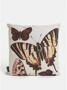 Krémový vankúš s motívom motýľov Magpie