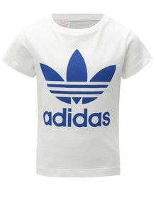 Bílé klučičí tričko s potiskem adidas Originals Trefoil