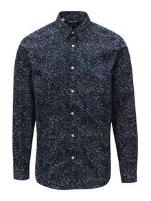Tmavě modrá vzorovaná slim fit košile Selected Mase