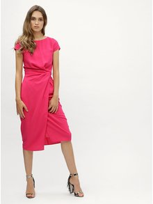 Rochie roz cu pliuri laterale Dorothy Perkins
