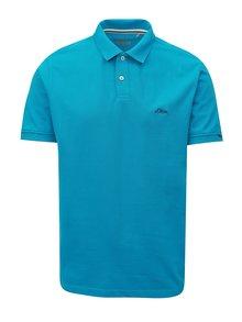 Modré pánské regular fit polo tričko s výšivkou s.Oliver